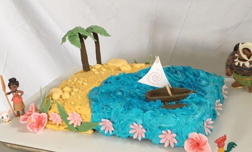 Magnificent A Moana Birthday Cake Rebecca Mckinnon Funny Birthday Cards Online Alyptdamsfinfo